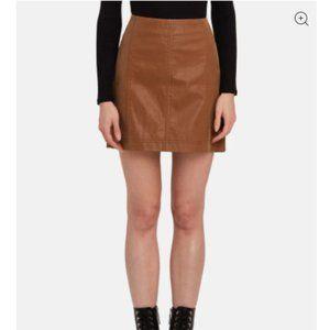 Free People Modern Femme Vegan Mini Skirt